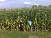 Brandi and Adele in corn