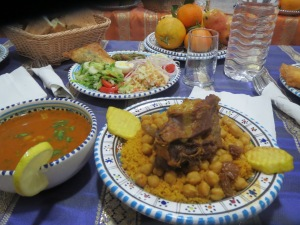 couscous and mutton